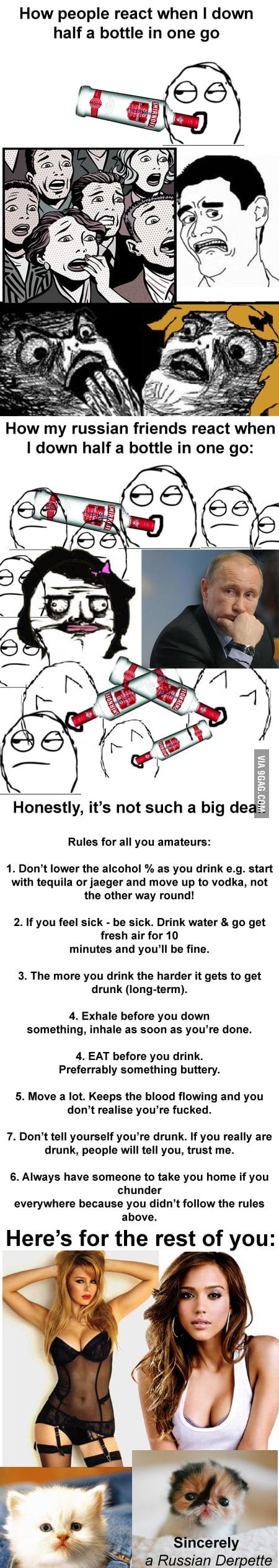 Научитесь уже пить, стыдно