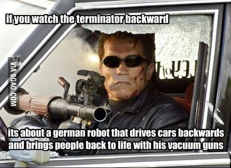 Terminator And The Magic Vacuum Guns
