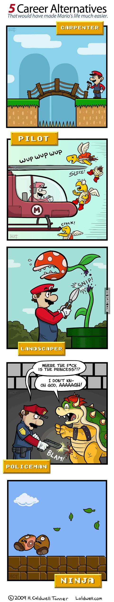 5 Career Alternatives for Mario
