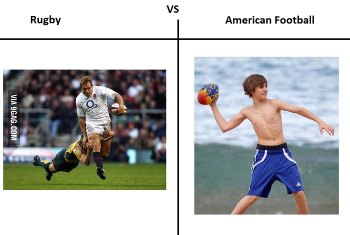 Rugby Vs American Football 9gag