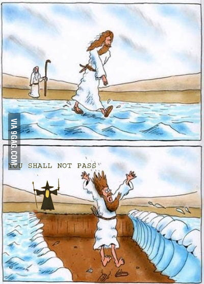 You shall not pass in bible