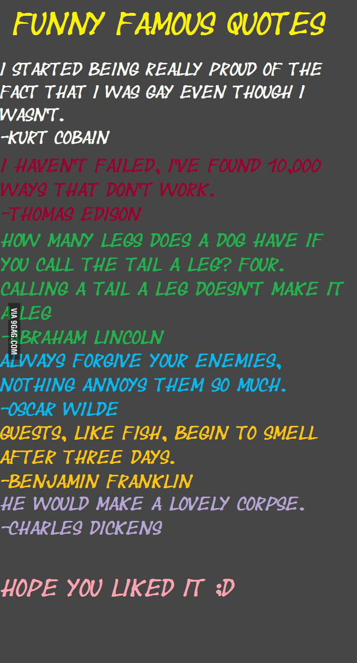Famous Stupid Quotes: Funny Famous Quotes