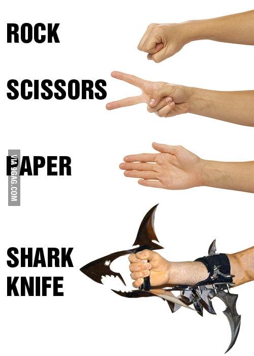 Rock, Scissors, Paper, Shark Knife