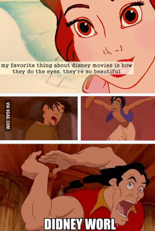 My favorite thing about Disney movies...