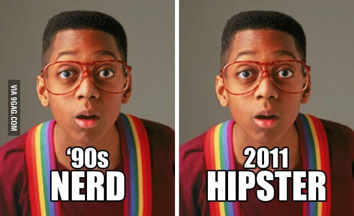 90s Nerd vs 2011 Hipster