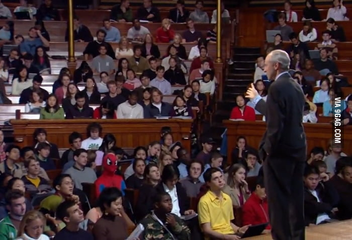 Just another lecture at Harvard.. When you see it..