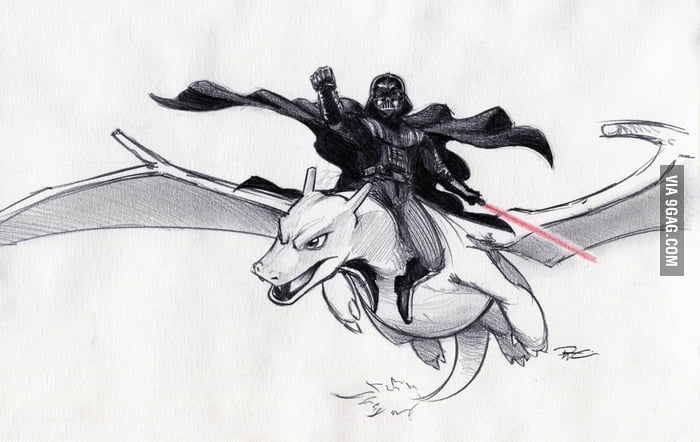 Darth Vader riding a Charizard, your argument is invalid