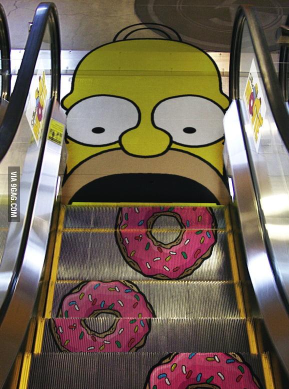 Donuts' escalator