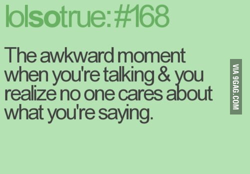 When you're talking...