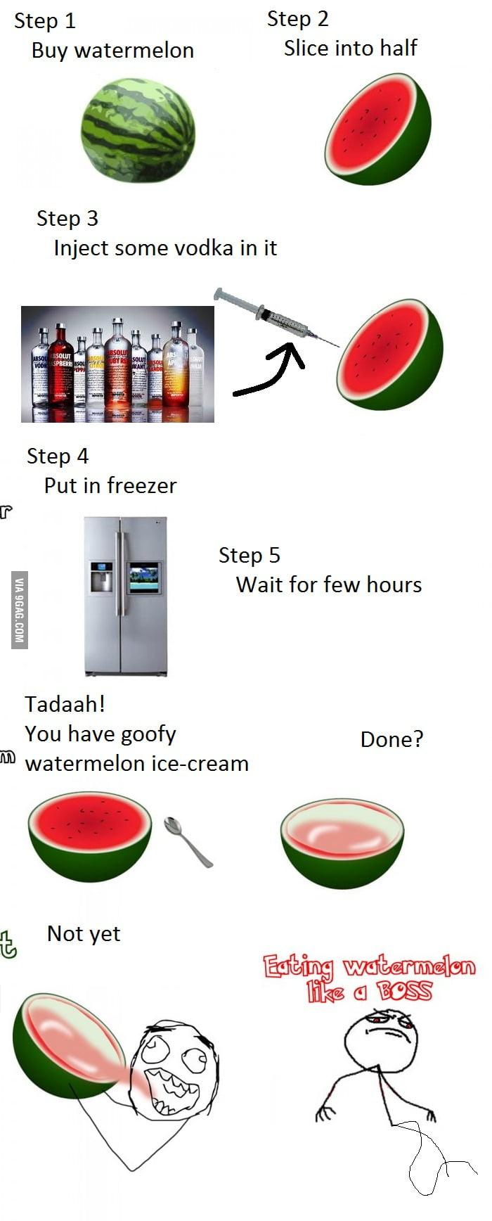 Watermelon ice-cream improvment