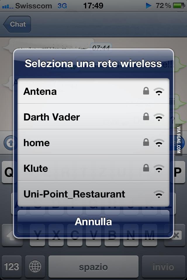 Darth Vader is a freeloader!