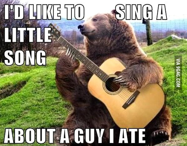 I'd like to sing a song...