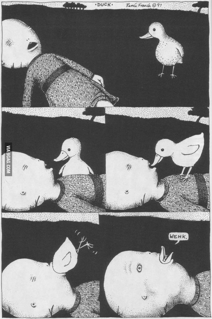 The true story about the duck faces