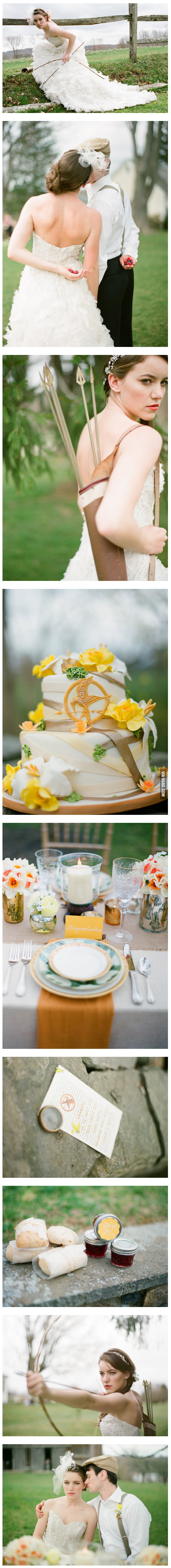 """The Hunger Games"" Themed Wedding"