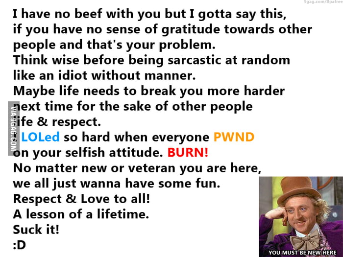 Fun, Respect & Love. No hard feelings.