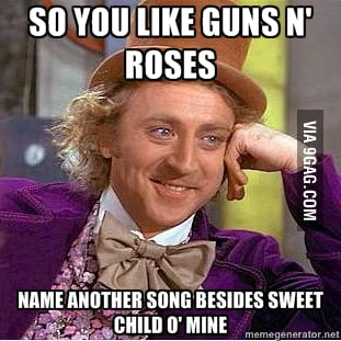 Or name a song that isn't in Guitar Hero