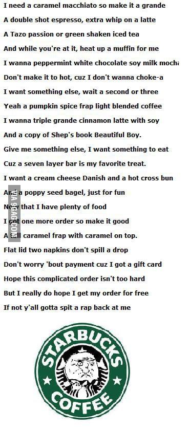 Starbucks Rap (Lyrics) - YouTube