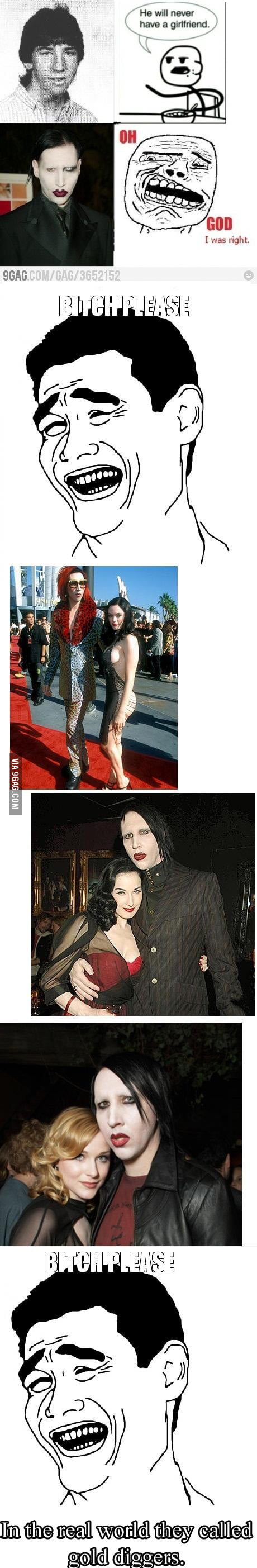 Marilyn Manson and his hot girlfriends, oops I meant..