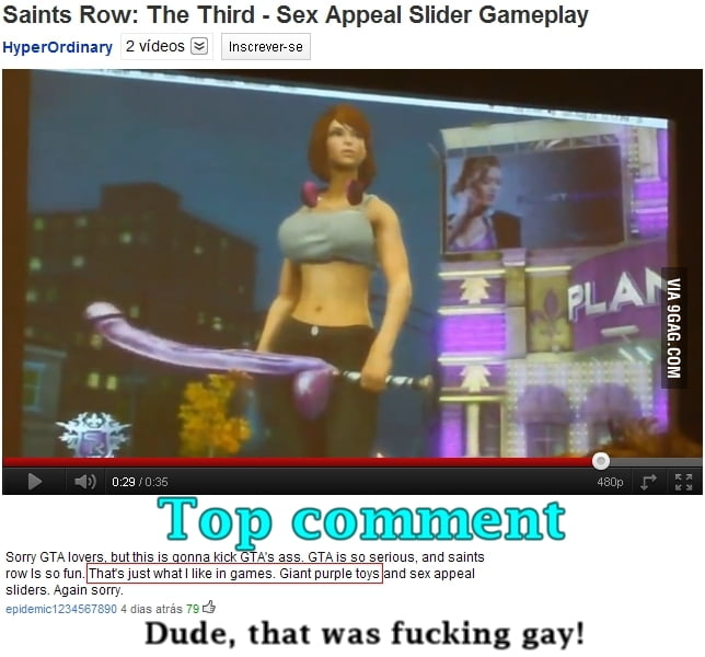 Gay comment level 99