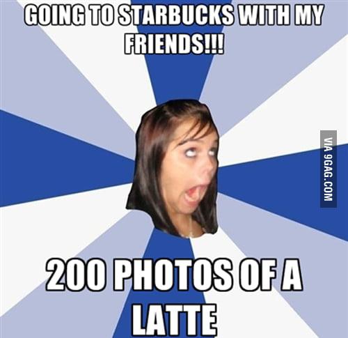 Annoying facebook girl in starbucks