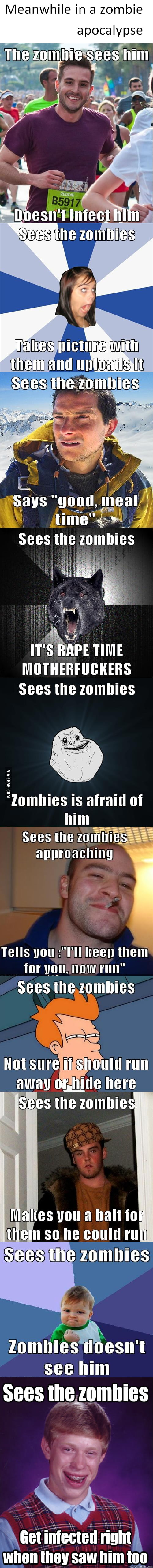 Memes in a zombie apocalypse