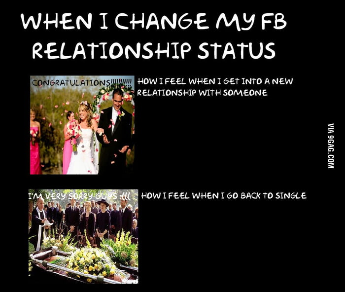 How to change single status on facebook