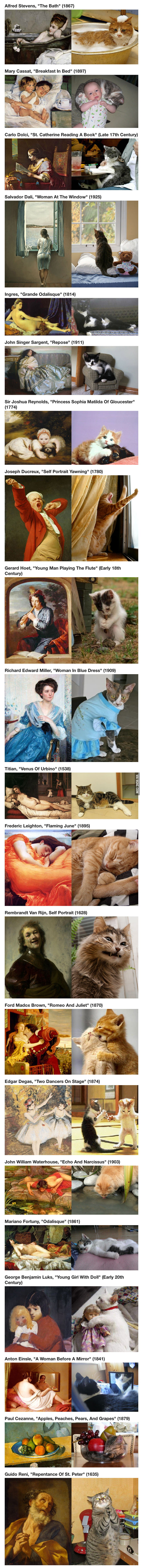 Cats Imitating Art