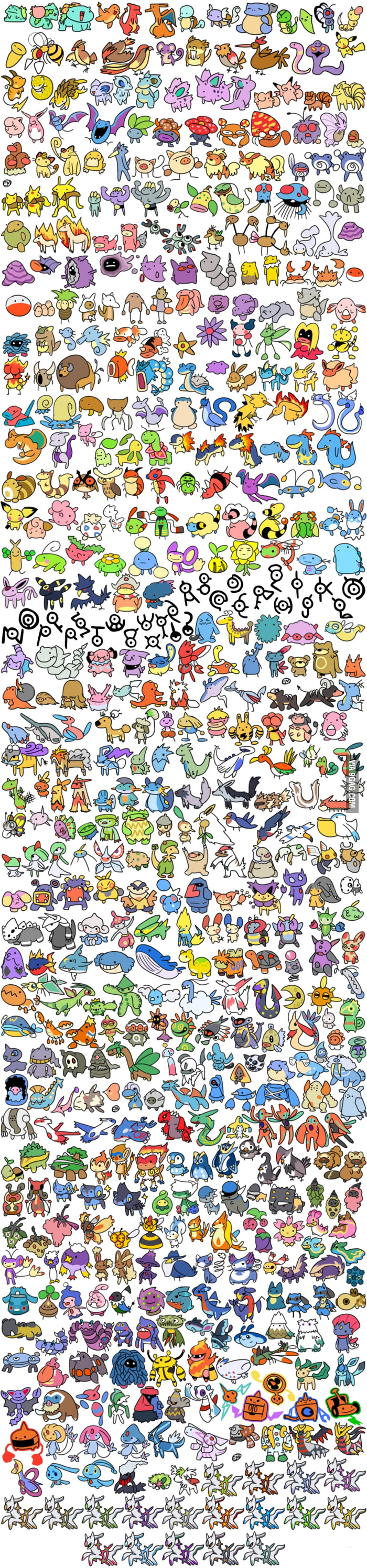 Just some pokemons.