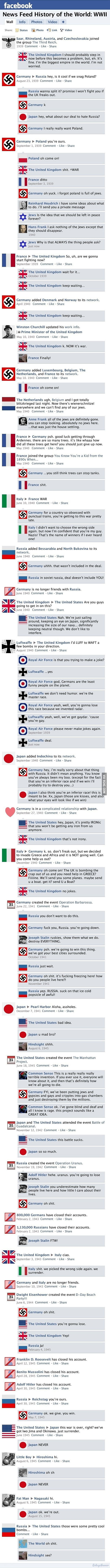 World War II on Facebook
