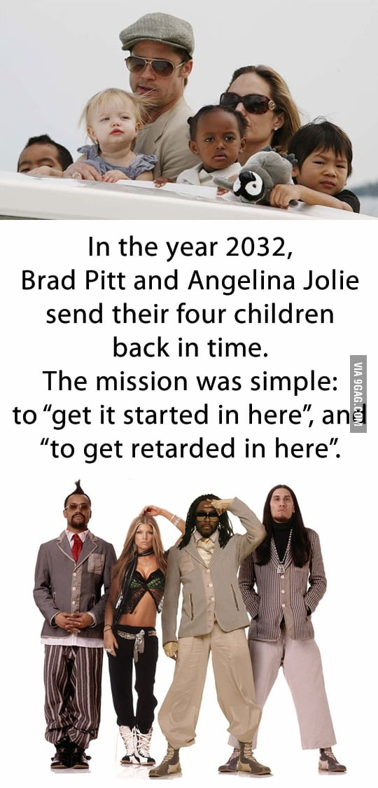 Brad Pitt and Angelina Jolie in 2032