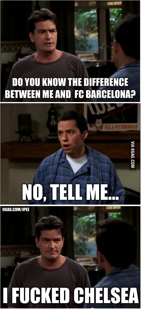 Difference between Charlie Harper and Barça