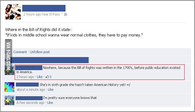 Epic facebook comment