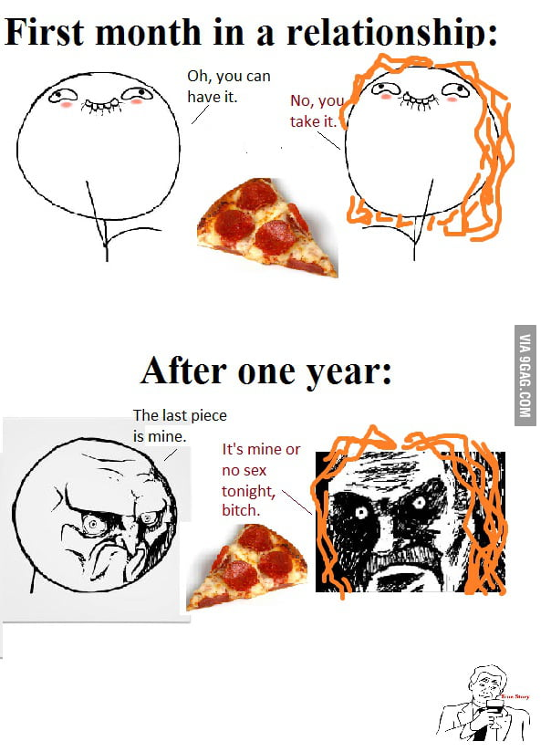 Relationship - one month and one year - 9GAG