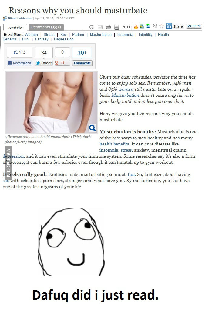 Reasons To Masturbate