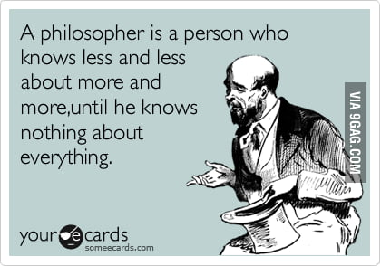 A philosopher is..
