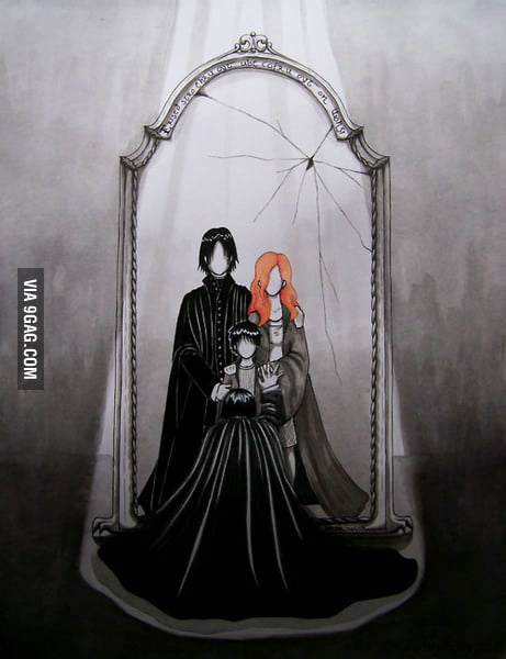 What Snape sees in the Mirror of Erised...