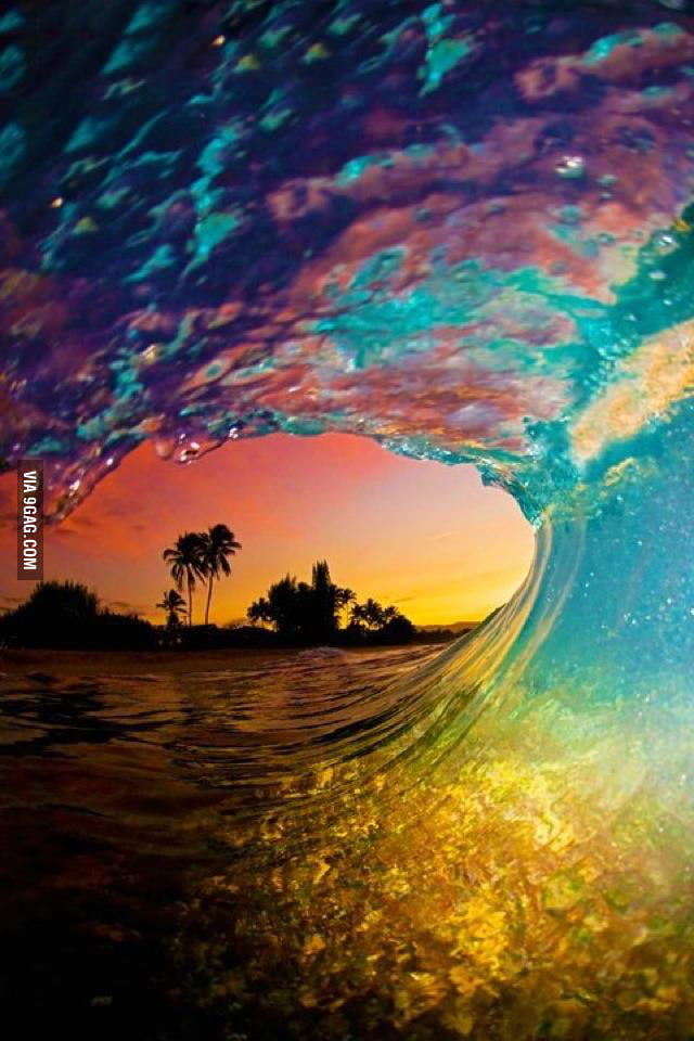 nature sunset wave epic mother win waves 9gag background down google