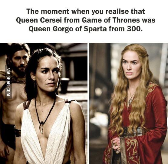 queen gorgo and cersei -#main
