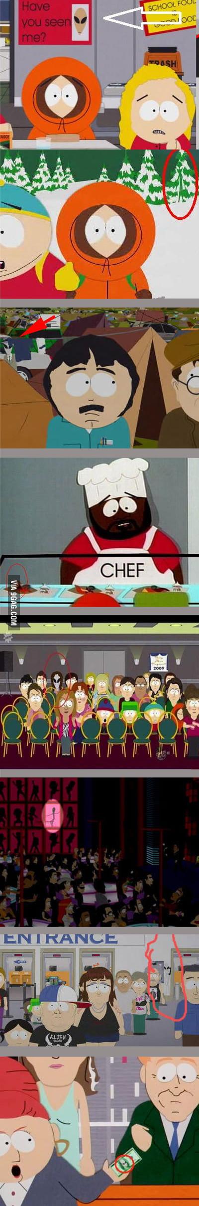 Hidden Aliens in South Park