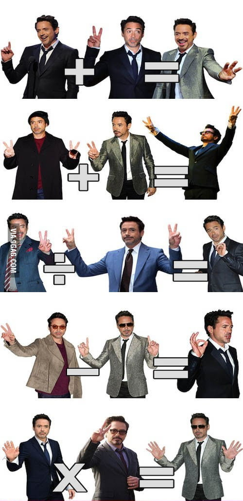 Robert Downey Jr. teaches you math