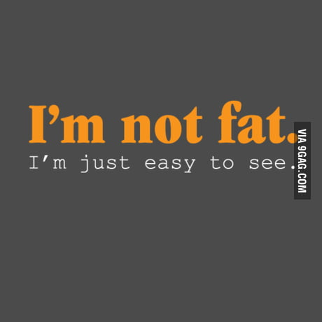 I'm not fat. I'm just easy to see.