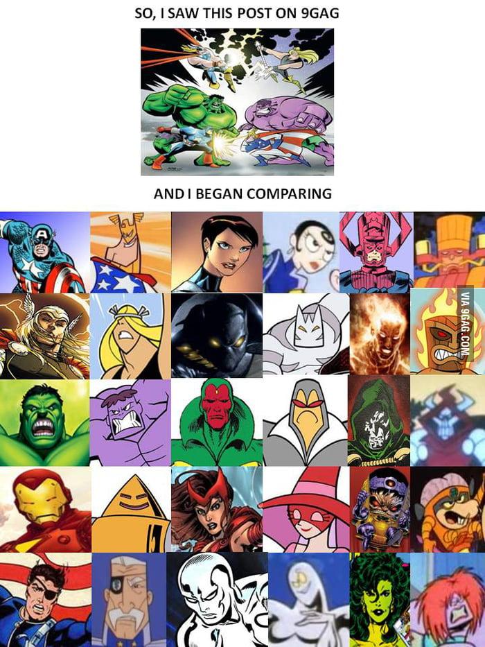 So I compared...