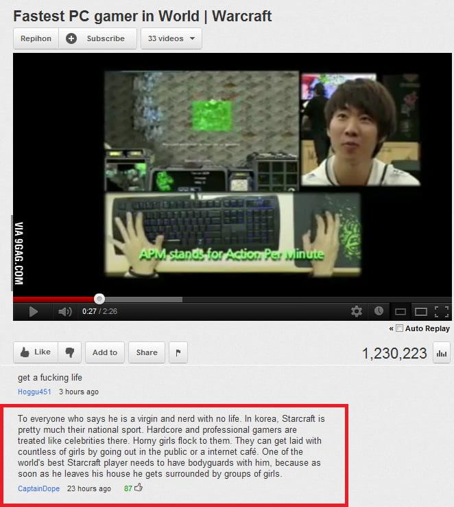 Korean gamer's got it going on