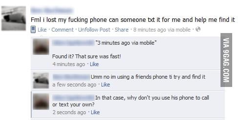 A subtle cry for help on Facebook - 9GAG