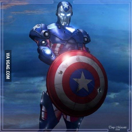 Captain America & Iron Man mashup - 9GAG