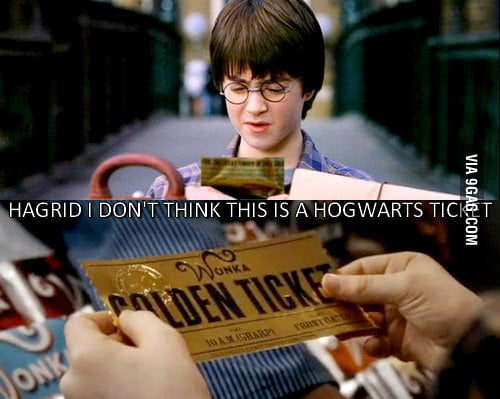 Ticket to hogwarts.. wait ..what??