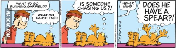 Want To Go Running Garfield 9gag