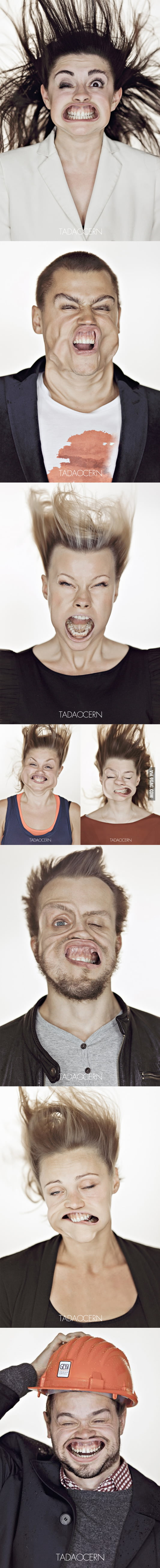 Gale-Force Winds, funny portraits.