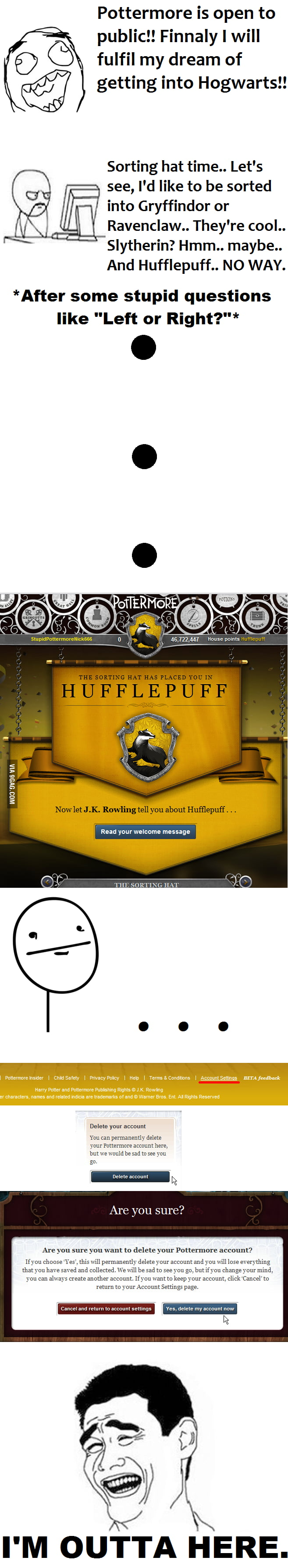 Pottermore sorting sucks - 9GAG