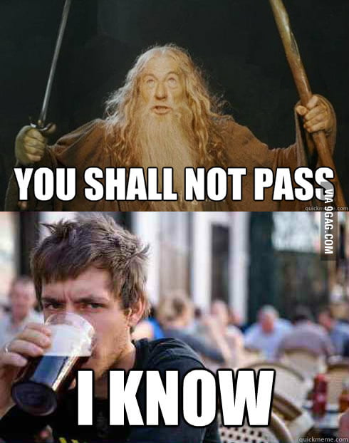 Finally someone understands gandalf